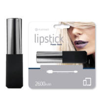 Platinet Lipstick Power Bank Leather 2600mAh Silver