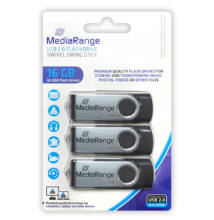 Mediarange 16GB USB 2.0 Pendrive Pack 3