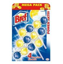 Bref Power Aktiv Wc Frissítő Mega-Pack (3 db) - Lemon