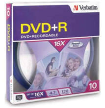 Verbatim DVD+R 4.7GB 16x  BOX Cake (10)
