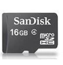 SanDisk Micro SDHC Card 16GB + Adapter SDSDQM-016G-B35A