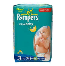 Pampers Active Baby Dry pelenka 3-as méret, 70 db