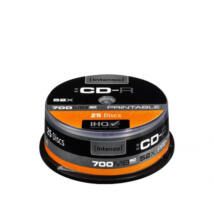Intenso CD-R 700 MB/80 Min. 52x Speed Printable Cake 25