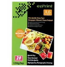 EzPrint Glossy Photo Papir A6 130g 20db-os (1)