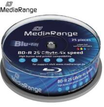 MediaRange Blu Ray BD-R 4x Printable Cake (25) /MR504/