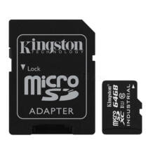 Kingston 64GB microSDXC UHS-I Class 10 Industrial Temp Card + SD Adapter SDCIT/64GB
