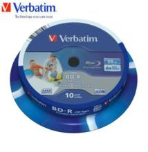 Verbatim BD-R SL LTH Type 25GB 6x Wide Printable Cake (10)