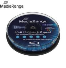 MediaRange BD-R 25 GB 6x Full Print Cake (10) /MR500/