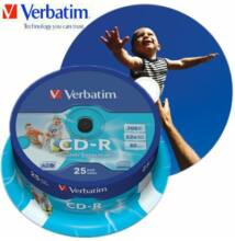 Verbatim CD-R 52x 700mb printable AZO Wide Inkjet Printable Cake (25)