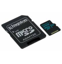 Kingston Canvas Go 128 GB microSD + SD adapter UHS-I (U3) 4K UHD (90/45MBps) SDCG2/128GB