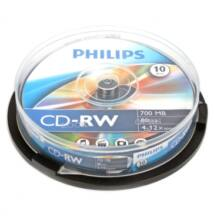 Philips CD-RW 12X Lemez, Cake (10)