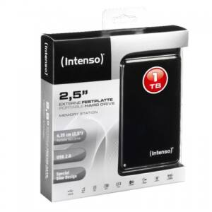 !! 1TB Intenso® Portable Hard Drive. USB 2.0 MEMORY STATION 2.5""