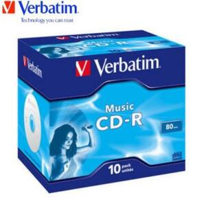 Verbatim CD-R 52x Audio Jewel Case (10)