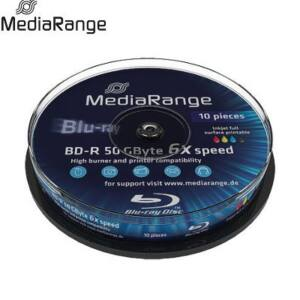 MediaRange BD-R DL 50 GB 6x FullPrint Cake (10) /MR509/