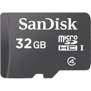 !! 32GB SanDisk Micro Secure Digital (SDHC) Memóriakártya Class 4+1 Adapter