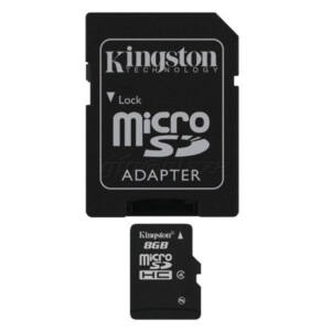 !! 8GB Kingston Micro Secure Digital (SDHC) Memóriakártya Class 4+1 Adapter