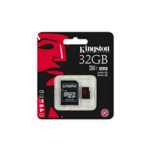 Kingston 32GB Micro SDHC Memóriakártya UHS-I Class U3 (90/80 Mb/S) + Adapter (SDCA3/32GB)